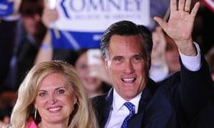 Mitt Romney celebrates in Boston