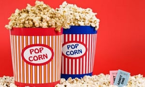 Two buckets of popcorn
