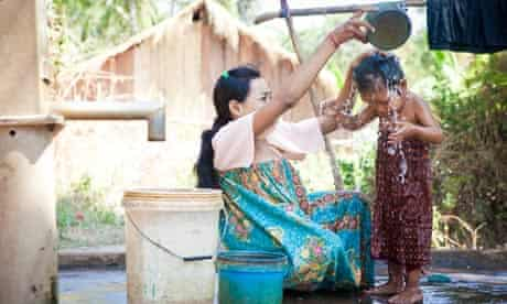 Woman and child in Cambodia