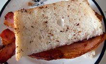 A bacon sandwich made to Nigel Slater's instructions