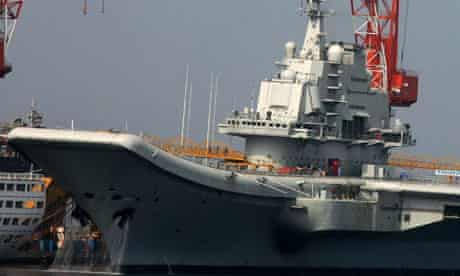 China's first aircraft carrier, the former Soviet ship the Varyag