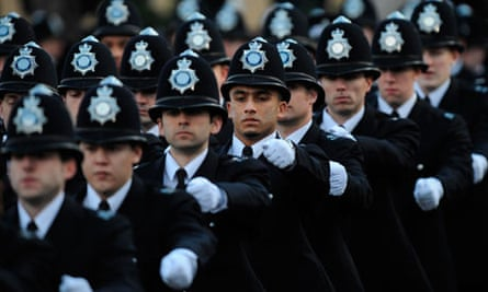 William reviews police passing out parade