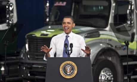 US president Barack Obama in Mount Holly, North Carolina