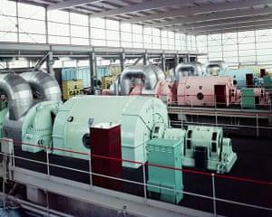 Windscale: Turbine Room of the Calder Hall Atomic Power Plant