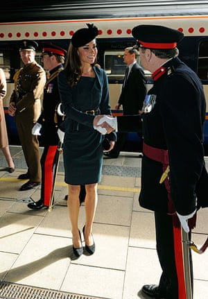 Royals in Leicester: Catherine, The Duchess of Cambridge arrives at Leicester train station