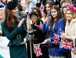 Royals in Leicester: Catherine, the Duchess of Cambridge waves, while visiting the Cathedral