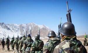 Afghan national army soldiers
