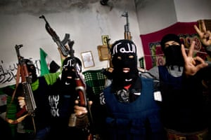 Inside northern Syria: Free Syrian Army fighters gather after swearing to fight, Idlib