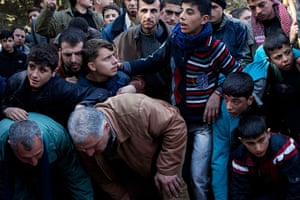 24 hours in pictures: Idlib, Syria: Mourners attend the funeral for Abdulaziz Abu Ahmed Khrer