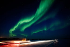 24 hours in pictures: Yellowknife, Canada: A solar storm