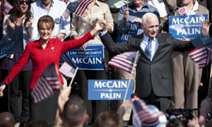 Julianne Moore as Sarah Palin and Ed Harris as John McCain in HBO's movie Game Change