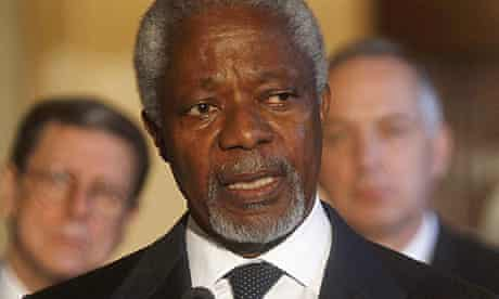 Kofi Annan, the UN-Arab League special envoy on Syria