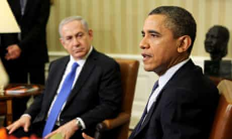 Obama and Netanyahu at the White House