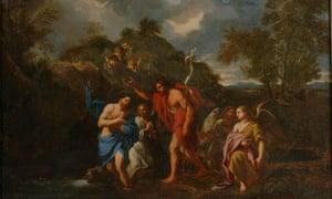 Battesimo di Cristo, by Nicolas Poussin (1594-1655)