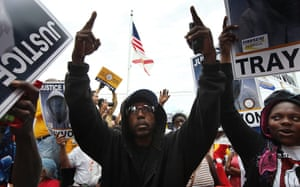 Trayvon Martin march: Wayne Wilson at Trayvon Martin rally