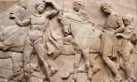 Detail of north frieze of Parthenon