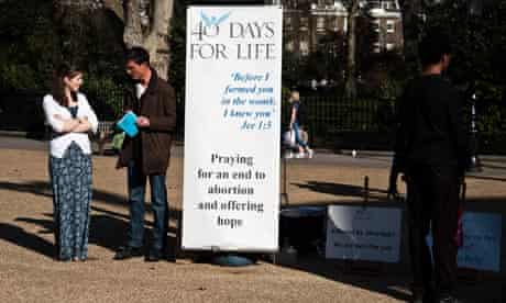 US-based anti-abortionists picket BPAS London clinic, 27/3/12