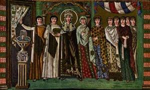 Mosaic showing Saint Theodora
