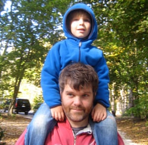 Jeffrey Brown and son Oscar.