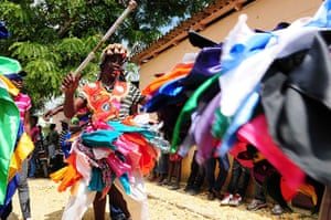 Haiti - A longer view: People take part in a Gaga ceremony in the Dominican Rebublic