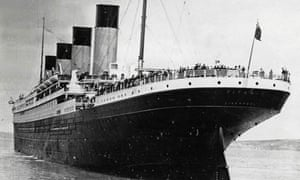 Titanic leaves Queenstown before her maiden voyage to New York that ended in tragedy