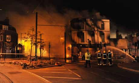 The House of Reeves furniture store on fire in Croydon