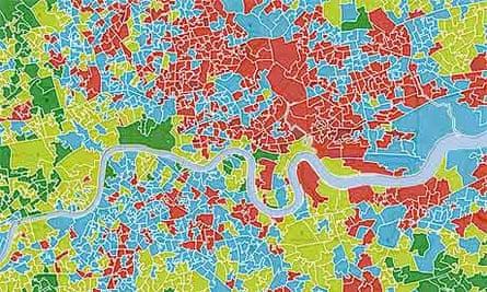London deprivation map