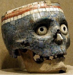 Hirst Mexican Death: aztec skull