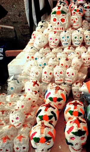 Hirst Mexican Death: Sugar calaveritas.