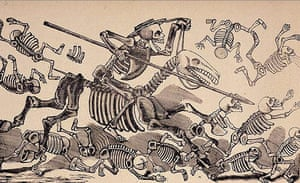 Hirst Mexican Death: engravure by Jose Guadalupe Posada