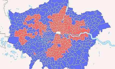 Factmint map of London's 2008 mayoral election votes