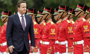 David Cameron visits the state palace in Jakarta, Indonesia