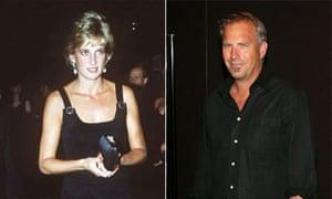 Princess Diana and Kevin Costner
