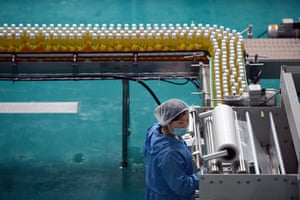 From the agencies: Worker operate a fruit juice factory on the outskirts of Pyongyang