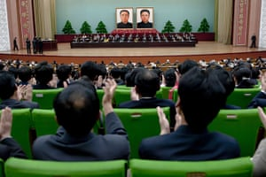 From the agencies: Delegates applaude as they take part in World Crongress of the Juche Idea