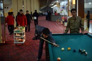 From the agencies: North Koreans play pool in Pyongyang