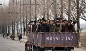 From the agencies: North Koreans commute to work