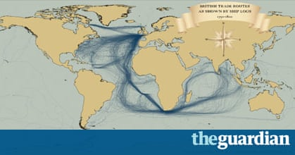 Th Century Shipping Mapped Using St Century Technology News - International shipping routes map to us