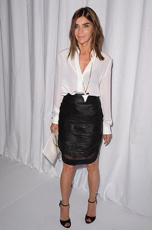 Carine Roitfeld: Carine Roitfeld attends the Givenchy Paris Fashion Week
