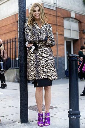 Carine Roitfeld: 2010: Carine Roitfeld during London Fashion Week