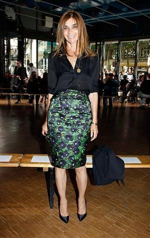 Carine Roitfeld: Carine Roitfeld attends the Givenchy Menswear Paris Fashion Week