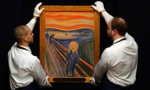 One of four of Edvard Munch's originals of The Scream.