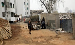 A residential compound in Pyongyang, North Korea