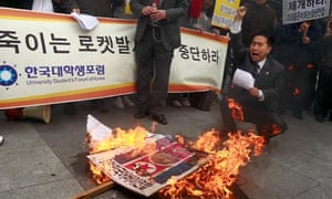 Rally against North Korea's rocket launch