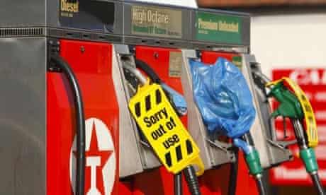 Petrol panic buying