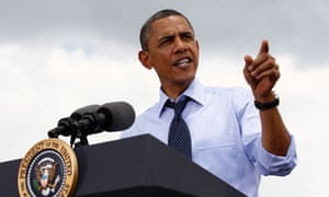 U.S. President Barack Obama speaks after touring the Port of Tampa in Florida