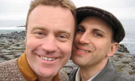Peterson Toscano with his partner Glen Retief