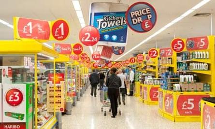 Tesco Extra supermarket aisle