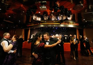 Titanic anniversary: Dancing during a reception