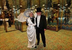 Titanic anniversary: Passengers in costume